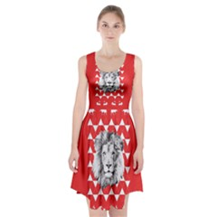 Lion & Lamb Minimalist Pattern Racerback Midi Dress