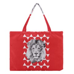 Lion & Lamb Minimalist Pattern Medium Tote Bag