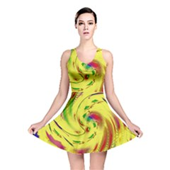 Leaf And Rainbows In The Wind Reversible Skater Dress