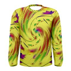 Leaf And Rainbows In The Wind Men s Long Sleeve Tee