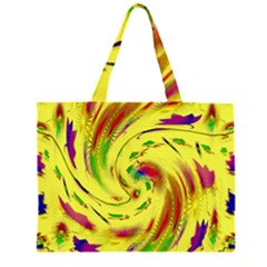 Leaf And Rainbows In The Wind Large Tote Bag