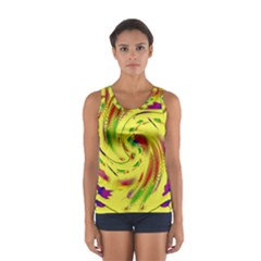 Leaf And Rainbows In The Wind Women s Sport Tank Top