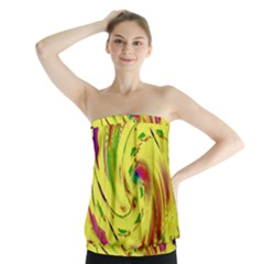 Leaf And Rainbows In The Wind Strapless Top