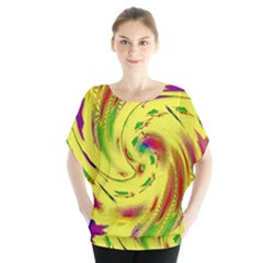 Leaf And Rainbows In The Wind Blouse