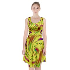 Leaf And Rainbows In The Wind Racerback Midi Dress