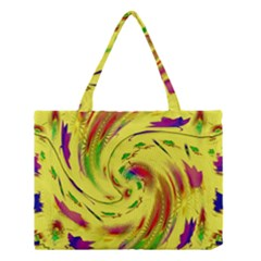 Leaf And Rainbows In The Wind Medium Tote Bag