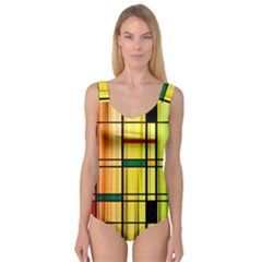 Line Rainbow Grid Abstract Princess Tank Leotard
