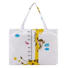 Cute Giraffe Monkey Medium Tote Bag