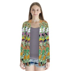 D Pattern Drape Collar Cardigan