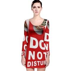 Do Not Disturb Long Sleeve Velvet Bodycon Dress