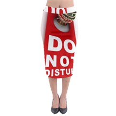 Do Not Disturb Midi Pencil Skirt