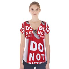 Do Not Disturb Short Sleeve Front Detail Top