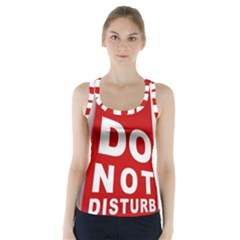 Do Not Disturb Racer Back Sports Top