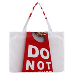 Do Not Disturb Medium Zipper Tote Bag