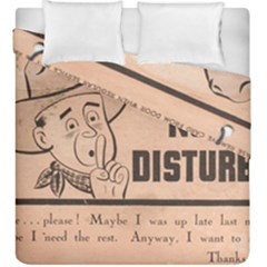 Do Not Disturb I Want To Sleep Thanks Duvet Cover Double Side (king Size)