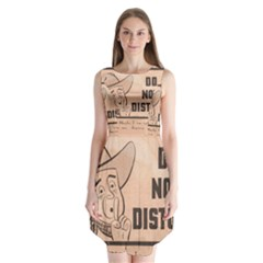 Do Not Disturb I Want To Sleep Thanks Sleeveless Chiffon Dress