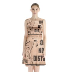 Do Not Disturb I Want To Sleep Thanks Sleeveless Chiffon Waist Tie Dress