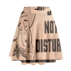 Do Not Disturb I Want To Sleep Thanks High Waist Skirt