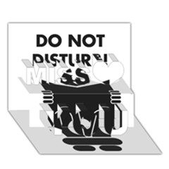Do Not Disturb Sign Board Miss You 3D Greeting Card (7x5)