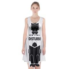 Do Not Disturb Sign Board Racerback Midi Dress