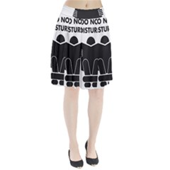 Do Not Disturb Sign Board Pleated Skirt