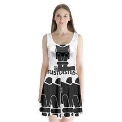 Do Not Disturb Sign Board Split Back Mini Dress