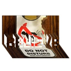 Do Not Disturb Sign Please Go Away I Don T Care Believe 3d Greeting Card (8x4)