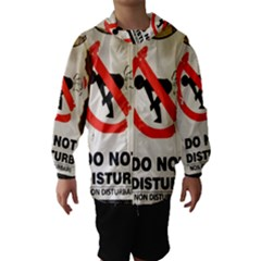 Do Not Disturb Sign Please Go Away I Don T Care Hooded Wind Breaker (Kids)