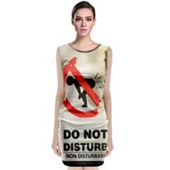 Do Not Disturb Sign Please Go Away I Don T Care Classic Sleeveless Midi Dress
