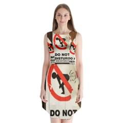 Do Not Disturb Sign Please Go Away I Don T Care Sleeveless Chiffon Dress