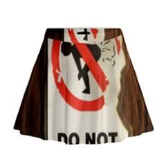 Do Not Disturb Sign Please Go Away I Don T Care Mini Flare Skirt