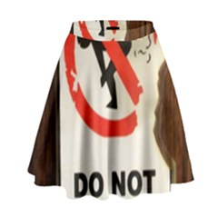 Do Not Disturb Sign Please Go Away I Don T Care High Waist Skirt