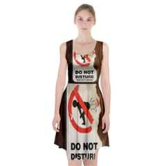 Do Not Disturb Sign Please Go Away I Don T Care Racerback Midi Dress