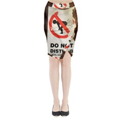 Do Not Disturb Sign Please Go Away I Don T Care Midi Wrap Pencil Skirt