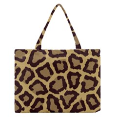 Leopard Medium Zipper Tote Bag