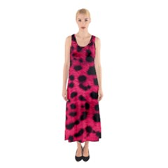 Leopard Skin Sleeveless Maxi Dress