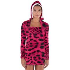 Leopard Skin Women s Long Sleeve Hooded T-shirt