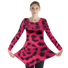 Leopard Skin Long Sleeve Tunic