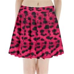 Leopard Skin Pleated Mini Skirt