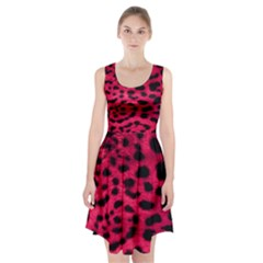 Leopard Skin Racerback Midi Dress