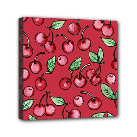 Cherry Cherries For Spring Mini Canvas 6  X 6