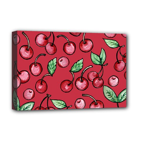 Cherry Cherries For Spring Deluxe Canvas 18  x 12