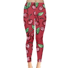 Cherry Cherries For Spring Leggings
