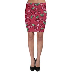 Cherry Cherries For Spring Bodycon Skirt