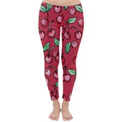 Cherry Cherries For Spring Winter Leggings