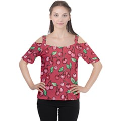 Cherry Cherries For Spring Women s Cutout Shoulder Tee