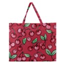 Cherry Cherries For Spring Zipper Large Tote Bag View1