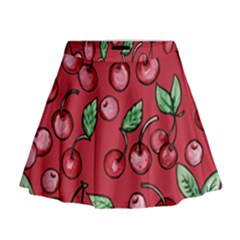 Cherry Cherries For Spring Mini Flare Skirt
