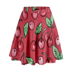 Cherry Cherries For Spring High Waist Skirt