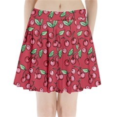 Cherry Cherries For Spring Pleated Mini Skirt